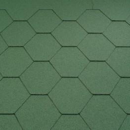 Typ szześciokątny gładki - zielony