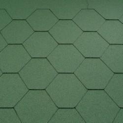 Typ sześciokątny gładki - zielony