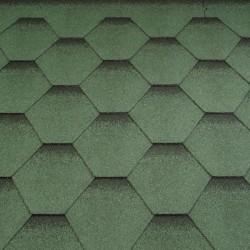 Typ sześciokątny cieniowany - zielony