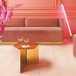 Dąb różowy malowany